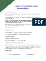 Cara Membagi Bandwidth Client Warnet Tanpa Software by oget sincan