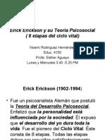 El desarrollo psicosocial de erick erickzon
