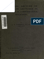 Inaugural Lecture of the Wilde Lecturer in Natural Comparative Religion by Farnell, Lewis Richard