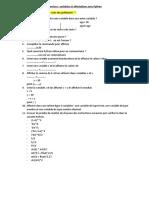 Exercicesvariables etaffectationsQcm
