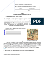 Ficha de Avaliação de História