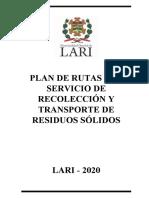 Plan de Rutas y Transporte Lari