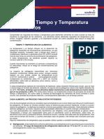 Cartilla control de tiempo y temperatura en alimentos