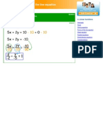 Forms of the line equation