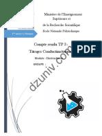 Electrochimie - Compte rendu TP- Titrages conductimétrique 6565