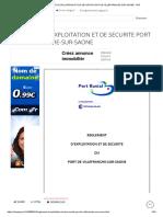 REGLEMENT D EXPLOITATION ET DE SECURITE PORT DE VILLEFRANCHE-SUR-SAONE - PDF