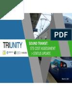 Sound Transit - Cost Estimate Consultant Status Report Presentation - March 2021