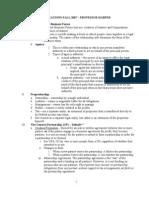 Exam Outline Bussiness Organization