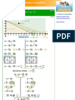 Solutions of systems of inequalities