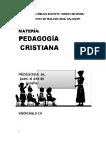 Pedagogia Cristiana