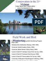 21st Century Bird Conservation