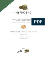 8-ARTIGO REVISTA HYPNOS 2018 - Phainomena, endoxa e a unidade do método em Aristóteles