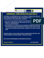 COMUNICADO DE SIAGE - OFICIAL 2021-