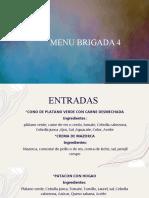 diapositivas de menu