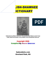 English Shawnee Dictionary