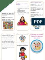 LONCHERAS SALUDABLES(triptico)