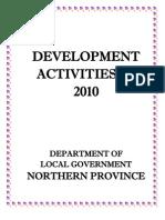 Development Activities - Department of Local Government