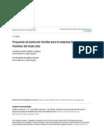 4. Propuesta de protocolo familiar para la empresa Empaques Flexible
