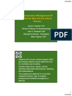 Perioperative Management Of CKD