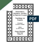 dorotheus, orpheus, anubio & pseudo-valens_Транзиты