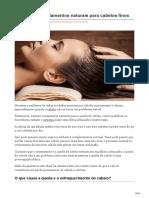 10 Principais Tratamentos Naturais Para Cabelos Finos