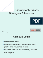Campus Recruitment-Trends, Strategies & Lessons
