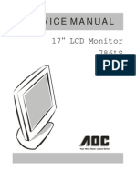 AOC LCD Monitor 786LS Service Manual