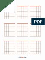 Diagramas de acordes em branco 3x3