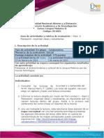Guia de actividades y Rúbrica de evaluación - Paso 2 Planeación organizar ideas y socializarlas