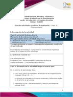 Guia de actividades y Rubrica de evaluacion Paso 1 - Reconocimiento
