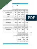 matriz de precio unitario