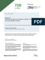 Políticas de apoio à inovação no Brasil