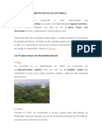 DIFERENTES MONUMENTOS MAYAS DE GUATEMALA