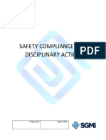 SAFETY COMPLIANCE AND DISCIPLINARY ACTION