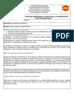 PRACTICA 7 DESTILACION POR ARRASTRE DE VAPOR PARA LA OBTENCION DE ACEITES ESENCIALES