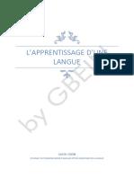 Apprentissage de La Langue