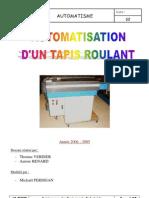 Dossier technique Tapis roulant