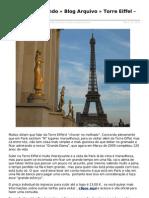 Torre Eiffel – A Grande Dama em Paris - França