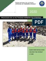 proceos de actividad minera