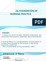 THEORETICAL FOUNDATION OF NURSING PRACTICE