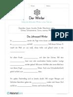 Arbeitsblatt Winter Lueckentext