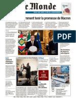 Journal Le Monde du Dimanche 14 et Lundi 15 Fevrier 2021