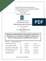 Thèse Doctorat UDL SBA Etude Du Comportement Des Nano-poutres en Flexion, En