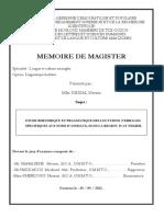 Etude Rhetorique Et Pragmatique Des Locutions (Verbales) Specifiques Aux Noms d'Animaux, Dans La Region d'at Yedjer
