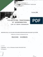Collectivites Traditionnelles Et Modernisation Les Ait Zekri d'Zemmour -Hassan Rachik