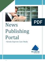 News Publishing Portal - Kerala Express Case Study