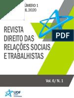 Revista Direito das Relações Sociais e Trabalhistas - Artigo e Sentença UBER