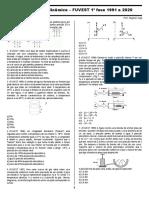 1 Fase Fuvest Gases e Termodinâmica 1991 a 2020 Exercícios