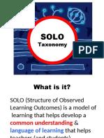 Intro of SOLO Taxonomy