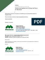 Licitación Pórtico de ingreso en el Olivar de Pisco